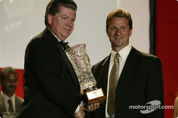 Mechanic of the year: Infineon Team Joest's Uwe Zenker with IMSA boss Doug Robinson
