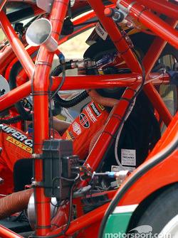 The cockpit of Steven Ellery's Super Cheap Auto