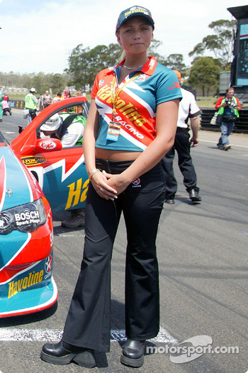 A charming Caltex grid girl
