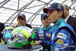 Felipe Massa, Neel Jani, Giancarlo Fisichella and Peter Sauber