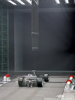 Windtunnel - Inside the test section - Rear view