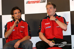 Vitantonio Liuzzi and Robert Doornbos interview on Autosport Stage