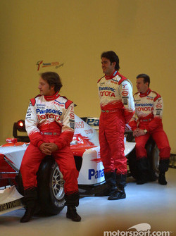 Cristiano da Matta, Ricardo Zonta and Olivier Panis