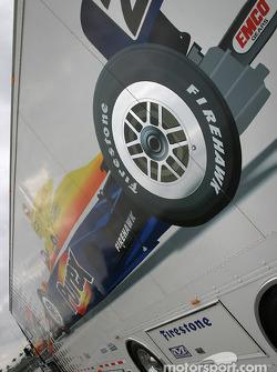Dreyer & Reinbold Racing transporter