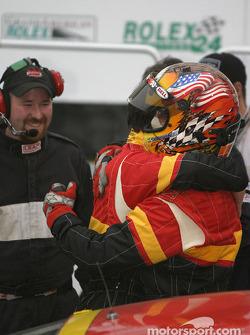 #44 The Race Site.com Porsche 996: Craig Stanton, Terry Borcheller takes checkered flag flag