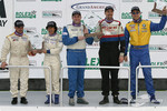 ST podium: class winners John Schmitt and Mike Liebl, with Anita Sangi and Neal Sapp, Will Turner and Don Salama