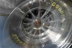 Wheel of the Brumos Racing Porsche Fabcar