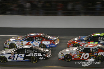 Ryan Newman, Mark Martin, Mike Skinner and Jeff Gordon