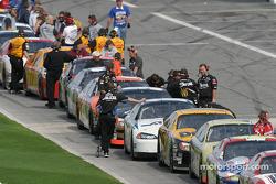 Line-up on pit road