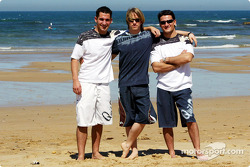Jordan Quiksilver Surfing: Timo Glock, Nick Heidfeld and Giorgio Pantano