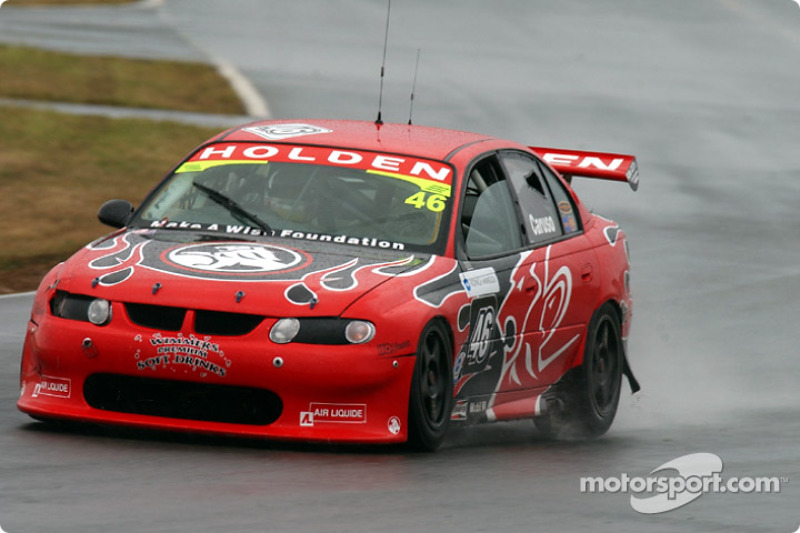 Michael Caruso of the Holden Young Lions getting use to the wet conditions