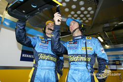 Telefonica I-Mode promo event: Fernando Alonso and Jarno Trulli