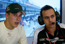 Christian Klien talks to his engineer