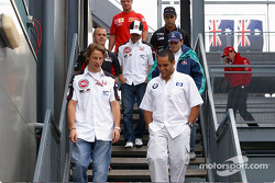 Drivers meeting: Jenson Button and Juan Pablo Montoya