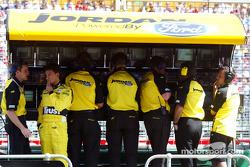 Giorgio Pantano at Jordan pitwall