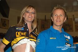 Subaru media event: Petter Solberg in charming company