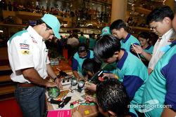 Interactive programme with students in Malaysia: Felipe Massa