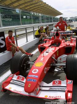 Ferrari at technical inspection line