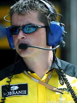 Jordan team manager Tim Edwards