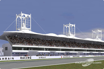 Rendering of the grandstand