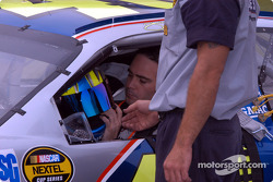 Jimmie Johnson gets ready for his qualifying effort