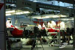 Toyota garage area on Saturday evening