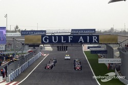 The grid waits for the start