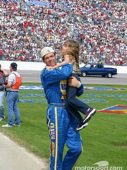 Michael Waltrip and daughter
