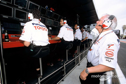 Ove Andersson at Toyota pitwall