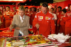 Michael Schumacher celebrates 200th Grand Prix in career