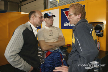 Volker Strycek, Peter Dumbreck and race engineer Johannes Gruber