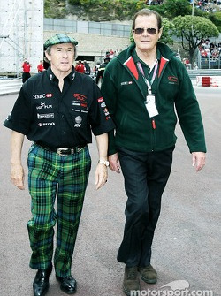 Jackie Stewart and Roger Moore