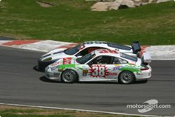 #85 Falcon Racing Ferrari 360GT: Nick Longhi, Joshua Rehm, Lawrence Stroll, and #38 TPC Racing Porsche GT3 Cup: Marc Bunting, Andy Lally