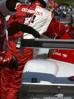 CGR crew work on the #02 car