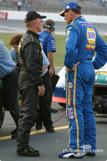 Morgan Shepherd and Michael Waltrip