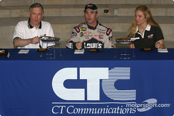 Pole winner Jimmie Johnson has a taste of the traditional pecan pie