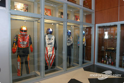 Visit of Hendrick Motorsports: drivers suits, trophies and other souvenirs inside the building of #24 and #48 teams