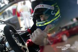 Cristiano da Matta in a Toyota Yaris Cup car