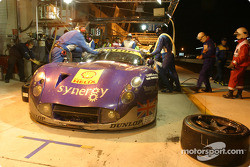 Pitstop for #89 Synergy Motorsport TVR 400R: Bob Berridge, Chris Stockton, Michael Caine