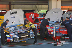 Dale Earnhardt Jr. and Matt Kenseth's crew working