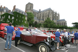 Vintage cars on display at the parade
