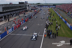 Drivers leave for the formation lap