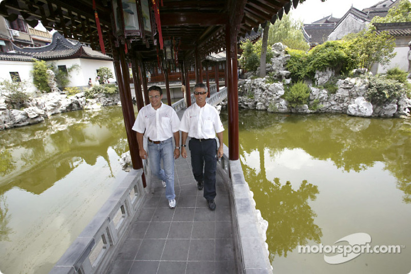 Christian Abt and Rinaldo Capello in Yu Garden