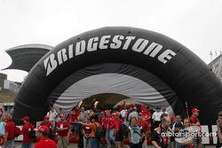 Bridgestone paddock area