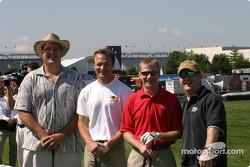 Brickyard 400 driver golf outing: Townsend Bell, Jeff Burton and friends