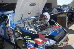 Mark Martin's team prepares the #6 Viagra Ford