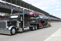 Chevrolet cars in the parade