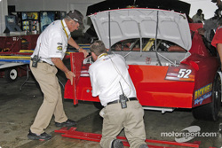 Tech inspection for measuring the rear body work