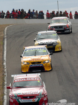 Paul Dumbrell at the back of the pack