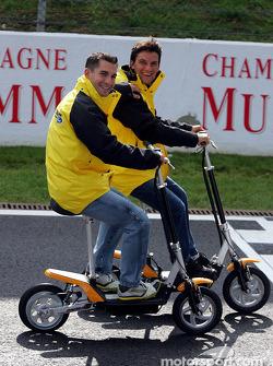 Timo Glock and Giorgio Pantano